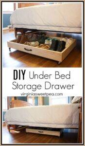 drawer on wheels for under bed shoe storage