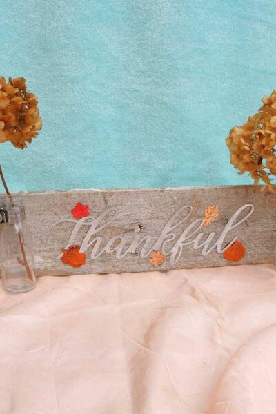 diy thankful sign