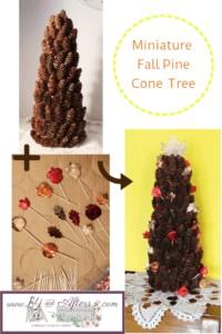 fall pine cone tree