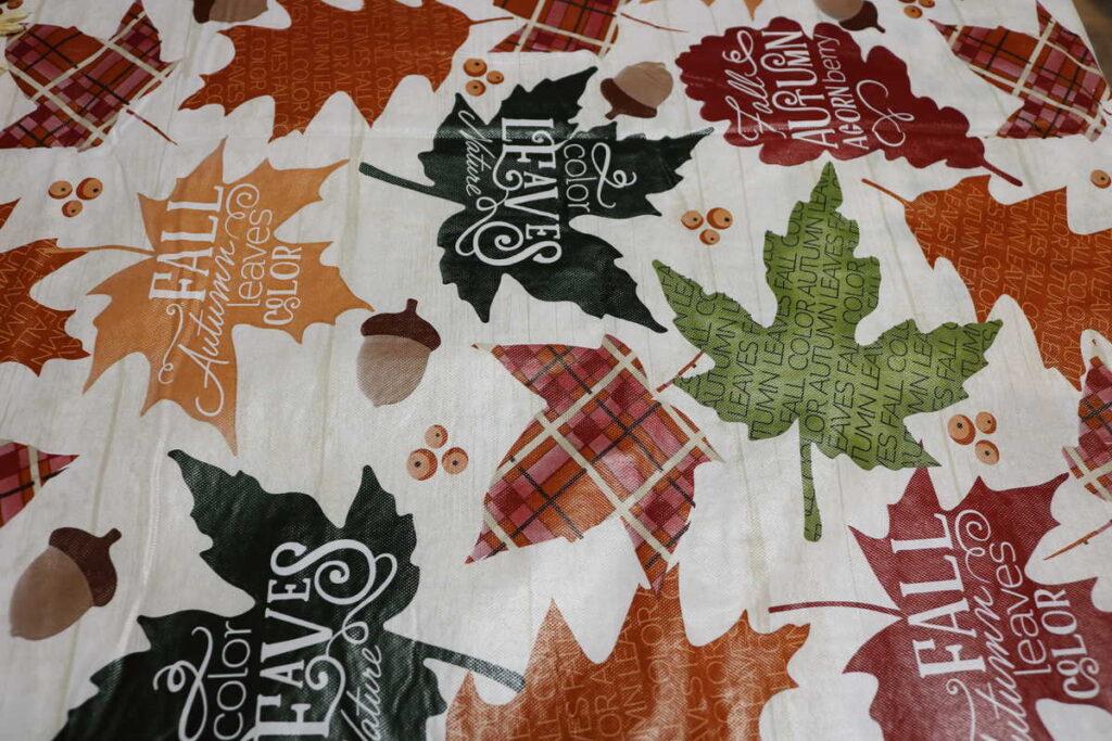 fall leaf tablecloth