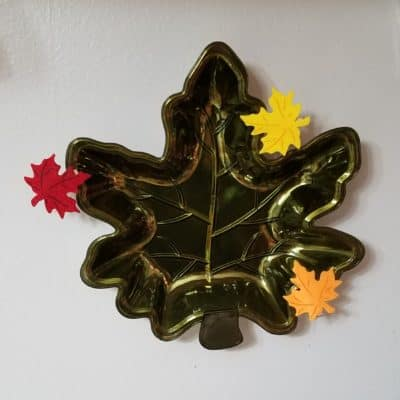 maple leave dish on the wall