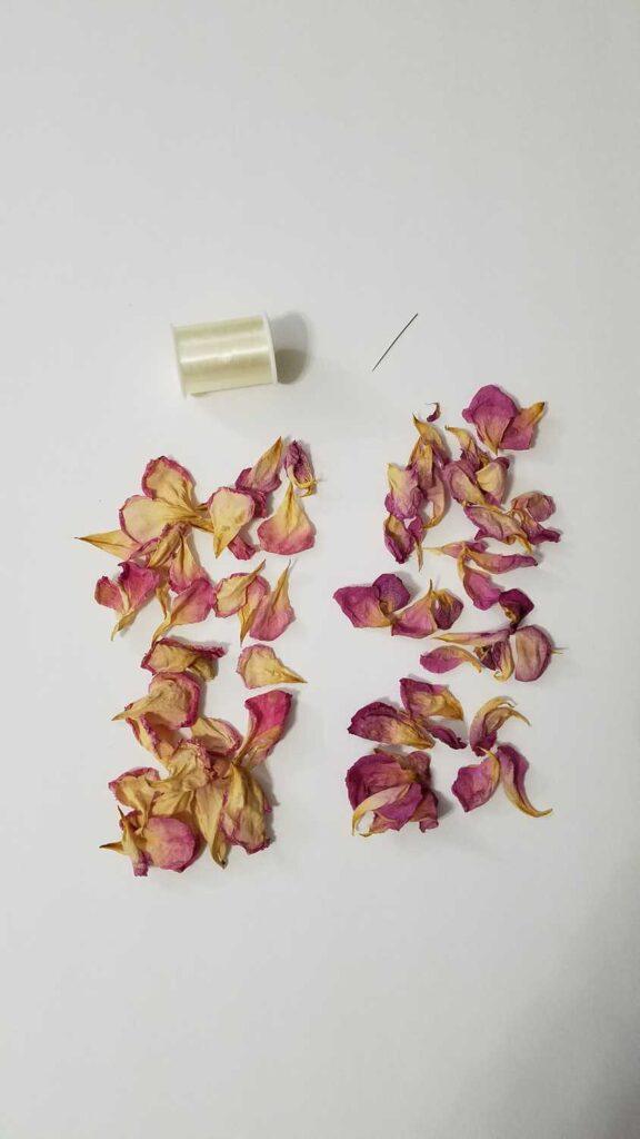 rose petals at https://www.b4andafters.com/rose-petal-garland