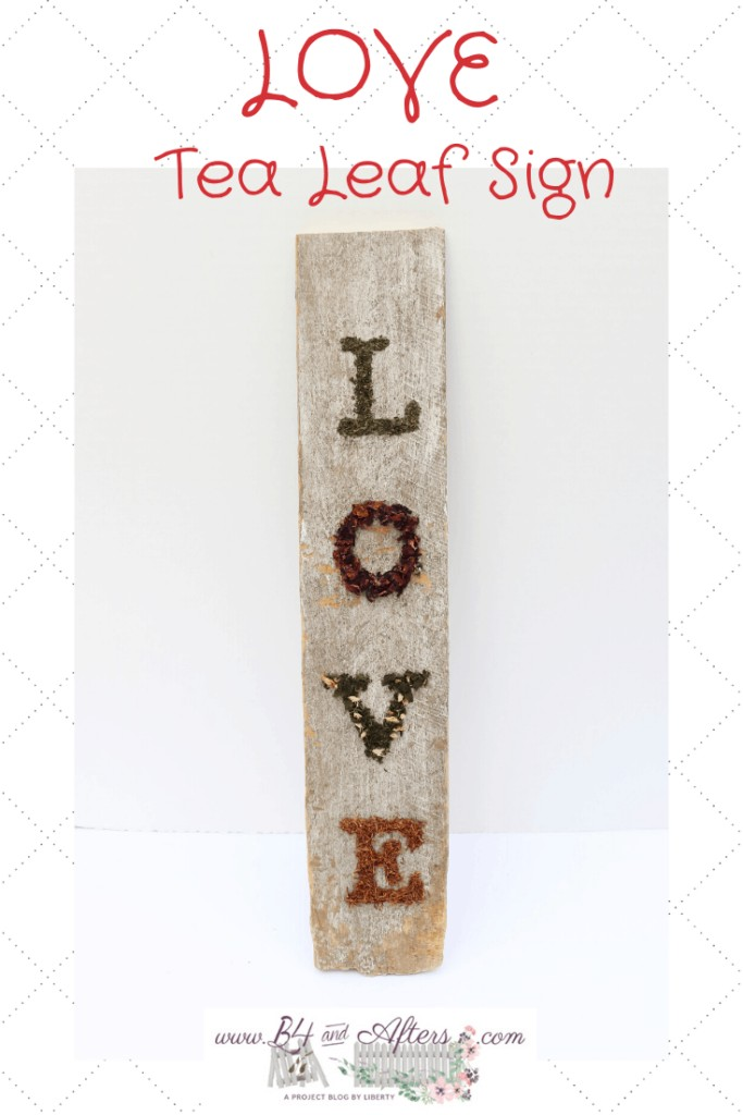 another graphic of tea leaf LOVE sign