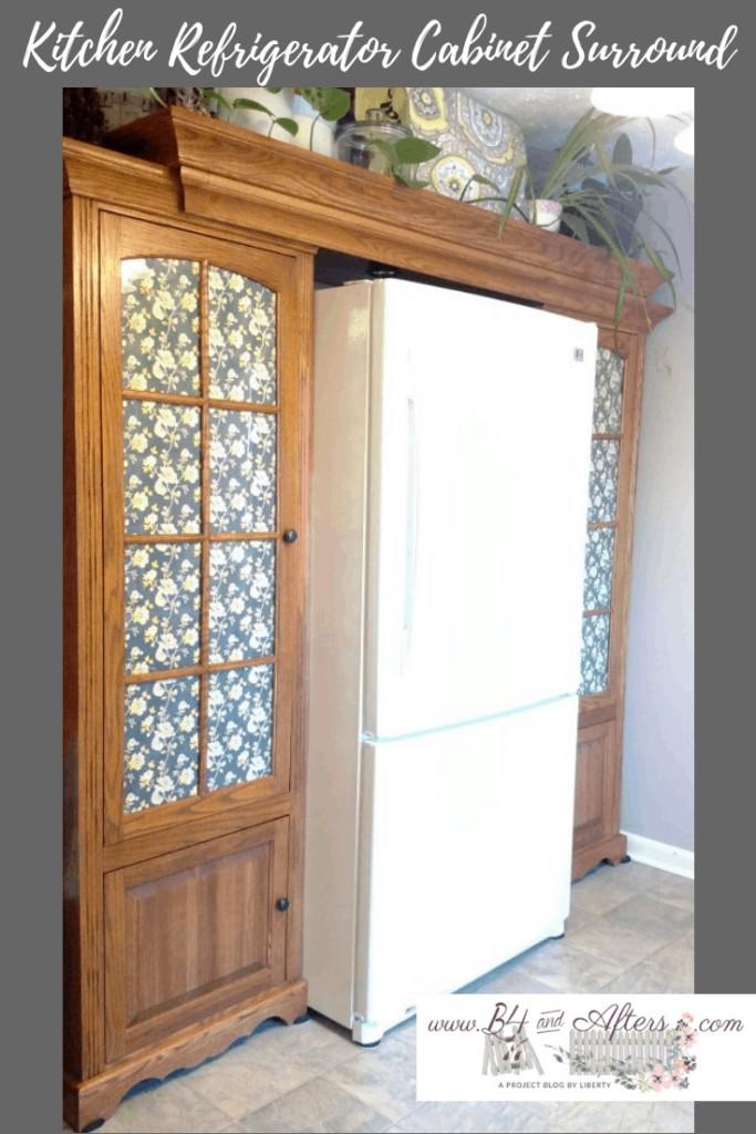 kitchen refrigerator surround cabinets