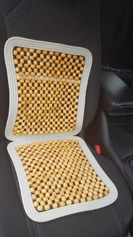 wood bead car seat cover