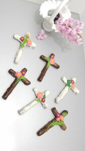 Cross Shaped Chocolate Covered Pretzels