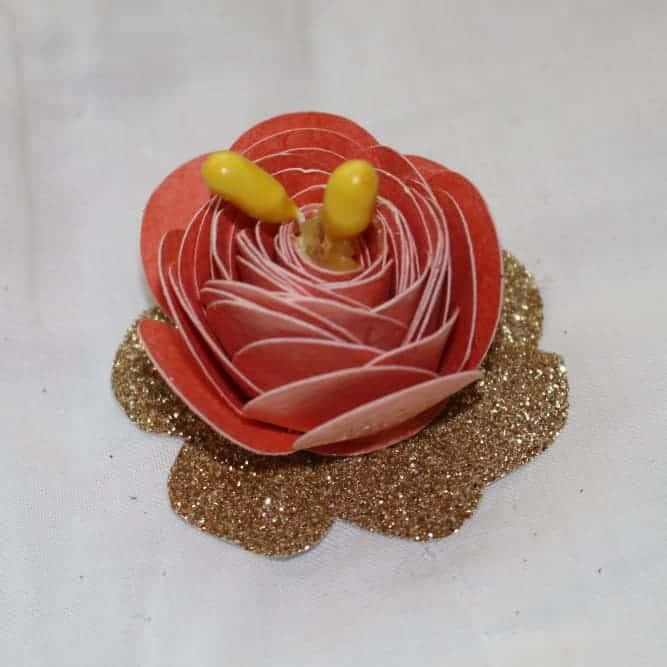 cardstock peach flower