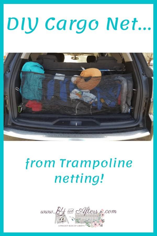 diy cargo net from trampoline netting