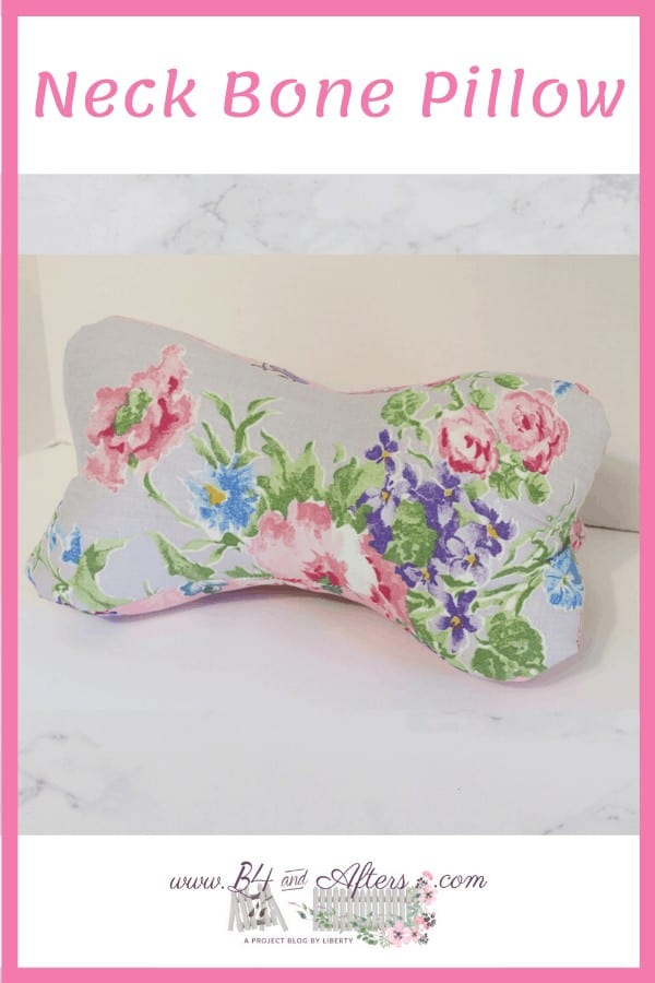 floral bone shaped pillow