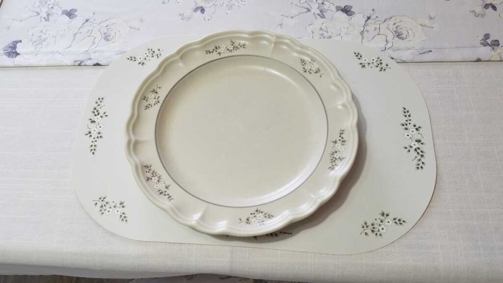 plate and placemat