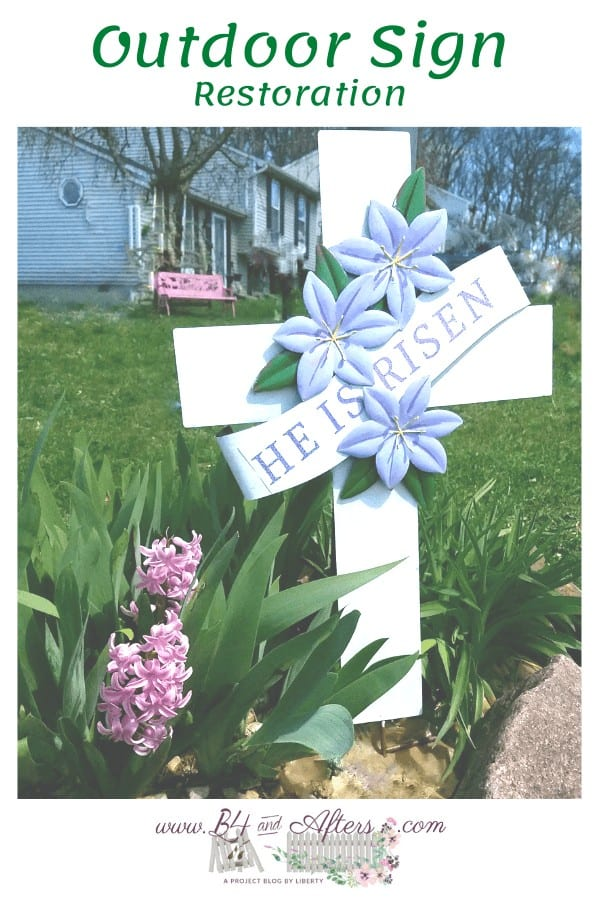He is Risen outdoor sign