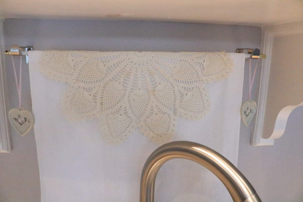 closeup of doily