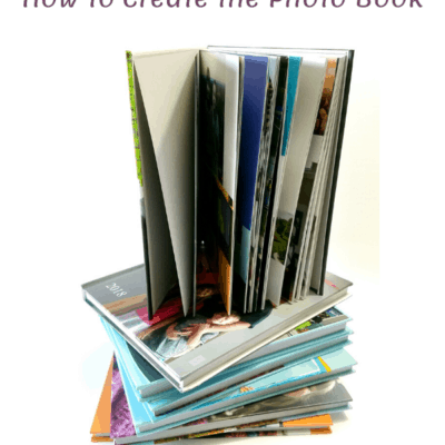 photo books stacked
