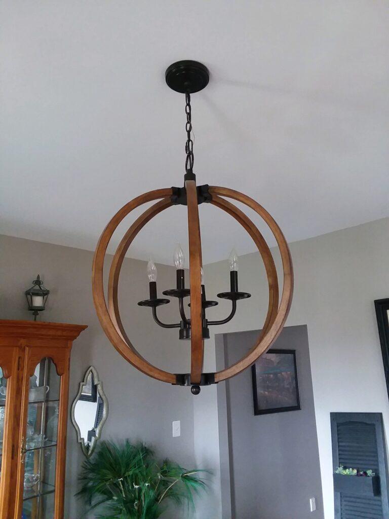 dark wood chandelier
