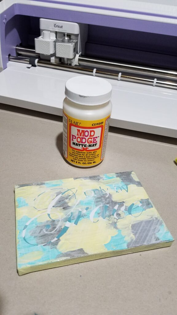 use Mod Podge to seal the stencil