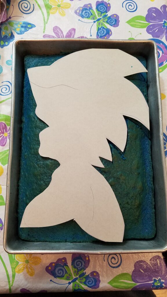 paper outline of sonic the hedgehog