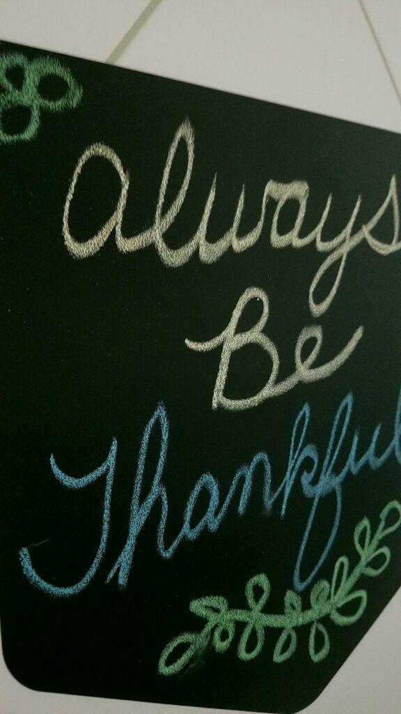 closeup of vinyl chalkboard