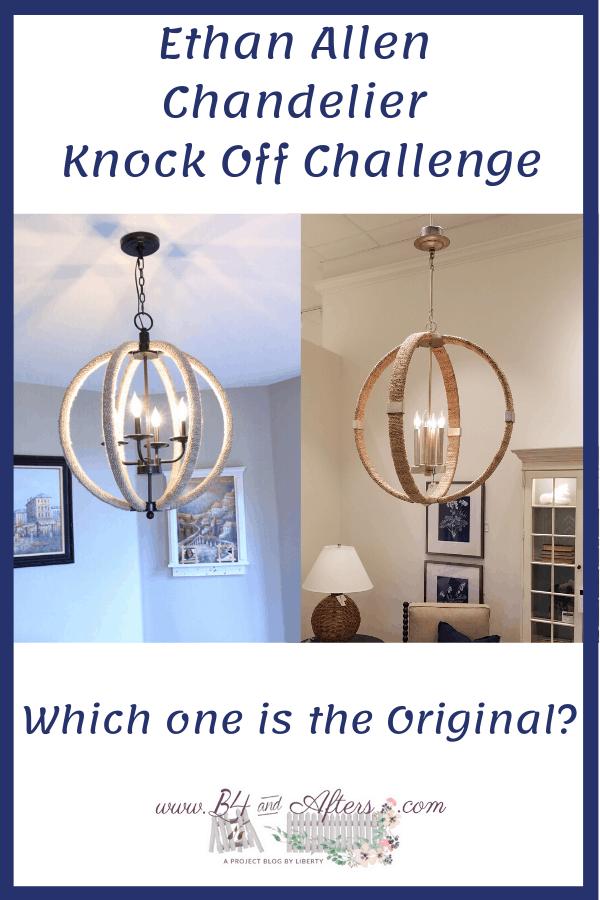 knock off challenge chandelier comparison