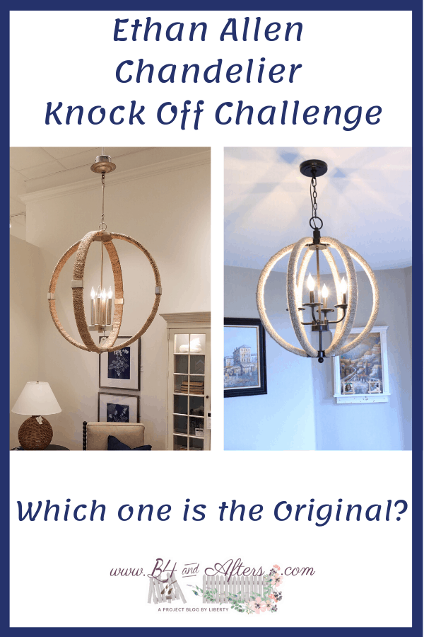 chandelier knock off challenge graphic