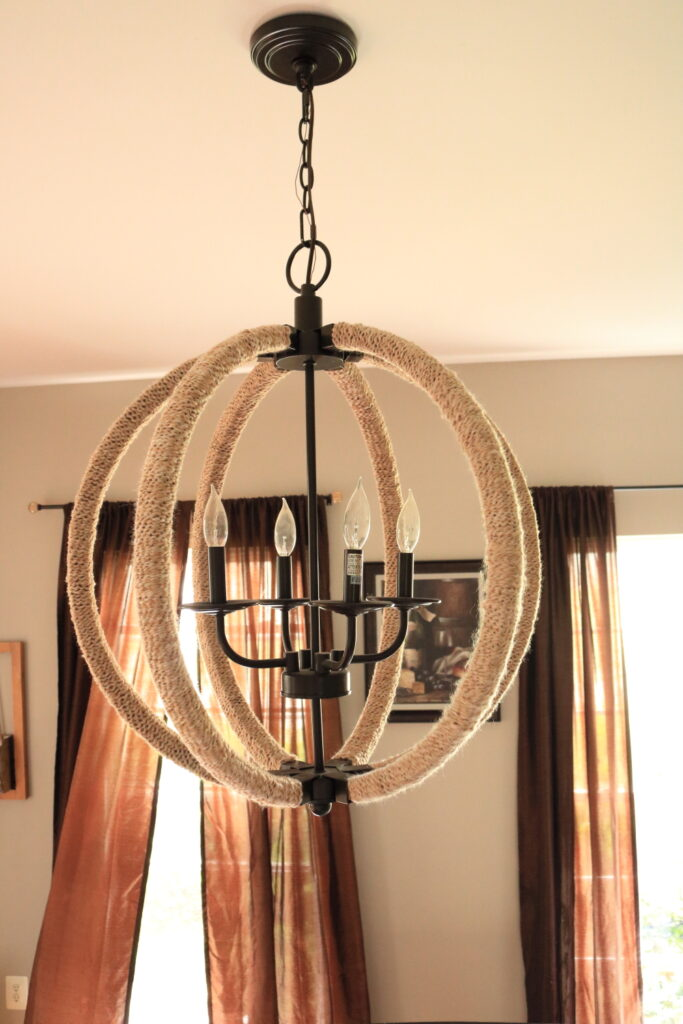 imitation rope wrapped chandelier