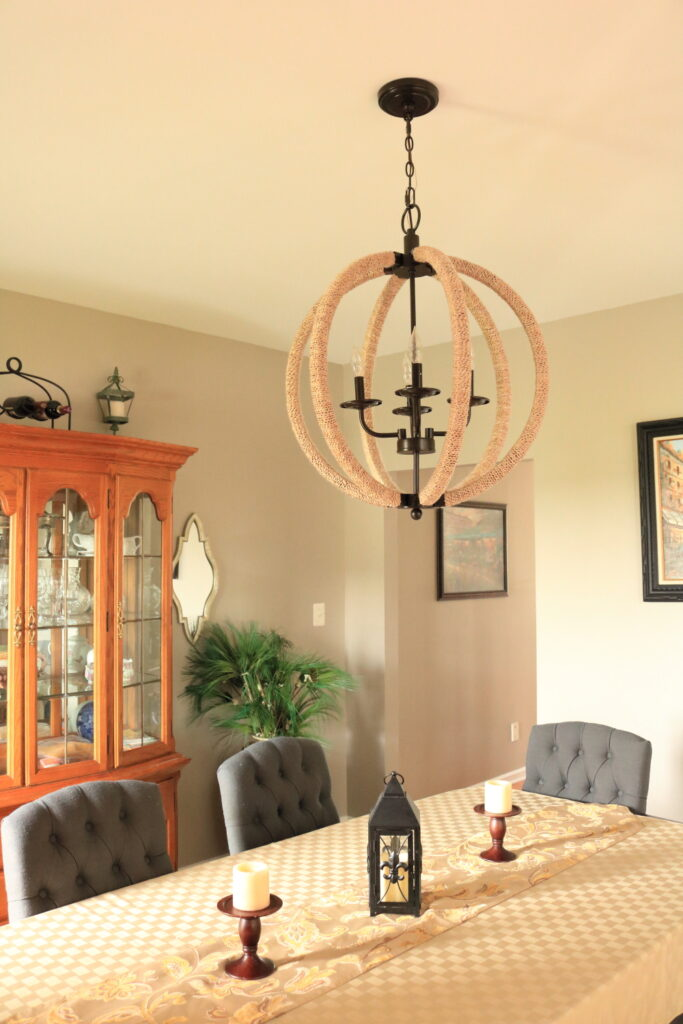 another view of Ethan Allen imitation chandelier