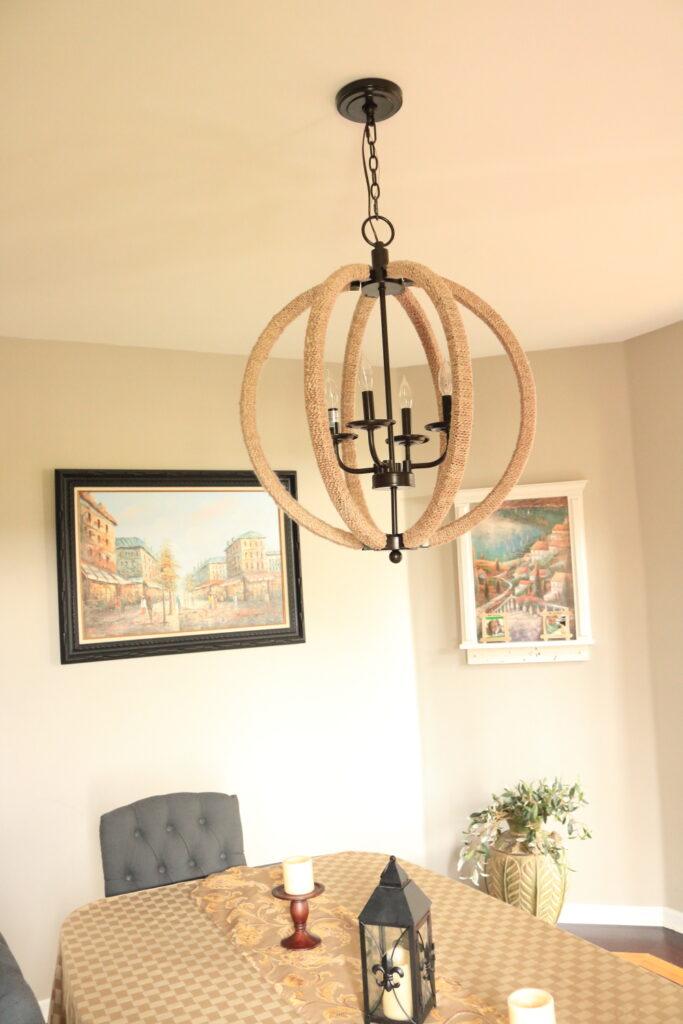 Ethan Allen imitation chandelier