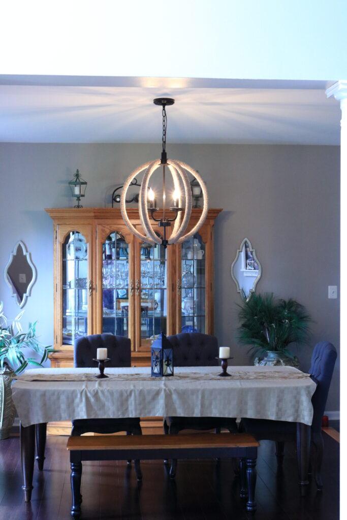 chandelier lit up