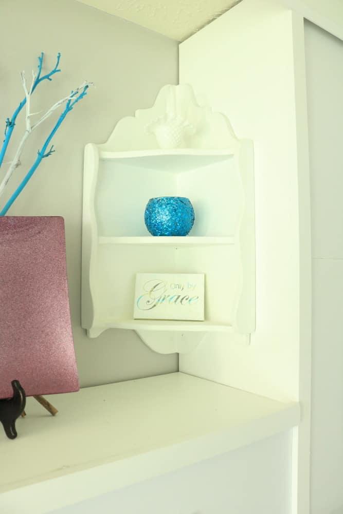 corner knick knack shelf