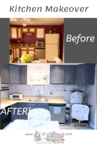 kitchen makeover showing before and after pictures