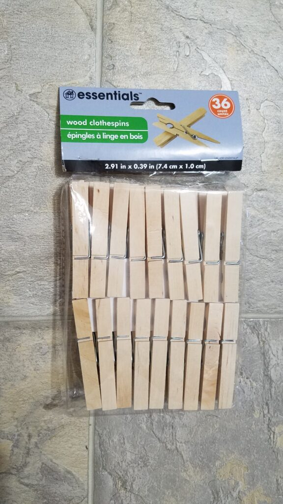 bag of 36 new clothespins