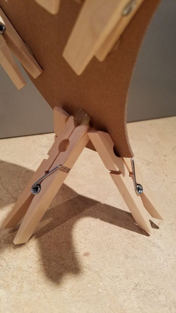 back of clothespin legs