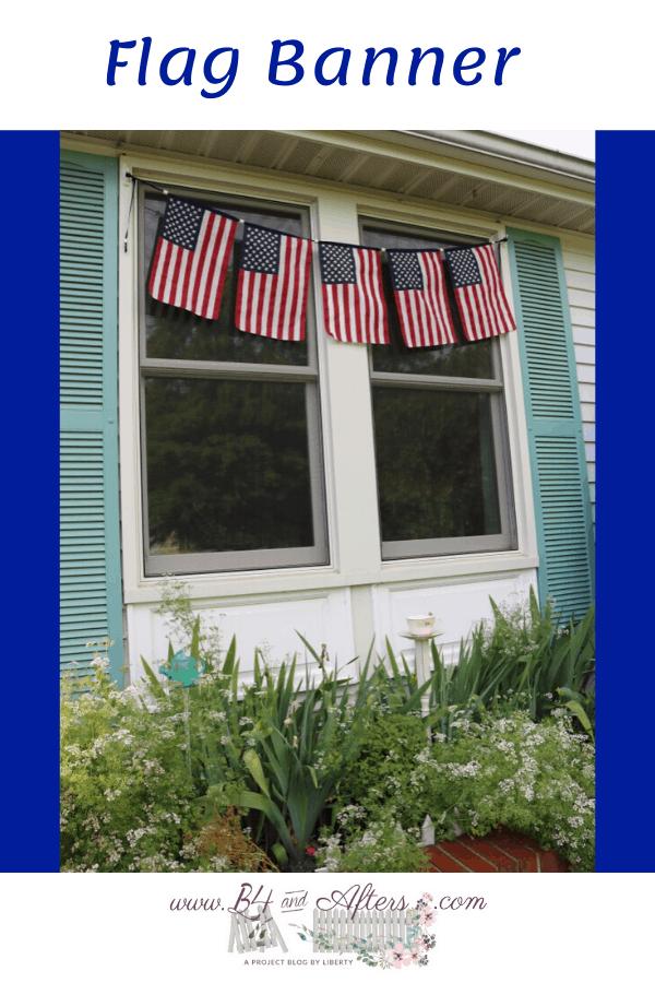 pinterest graphic of flag banner