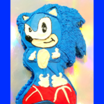 Sonic the Hedgehog in a cake shape