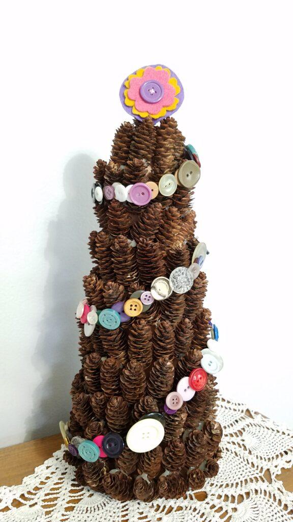 Button Pine Cone Tree