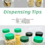 dispensing tips using parmesan containers