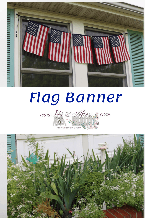 graphic of flag banner over windows