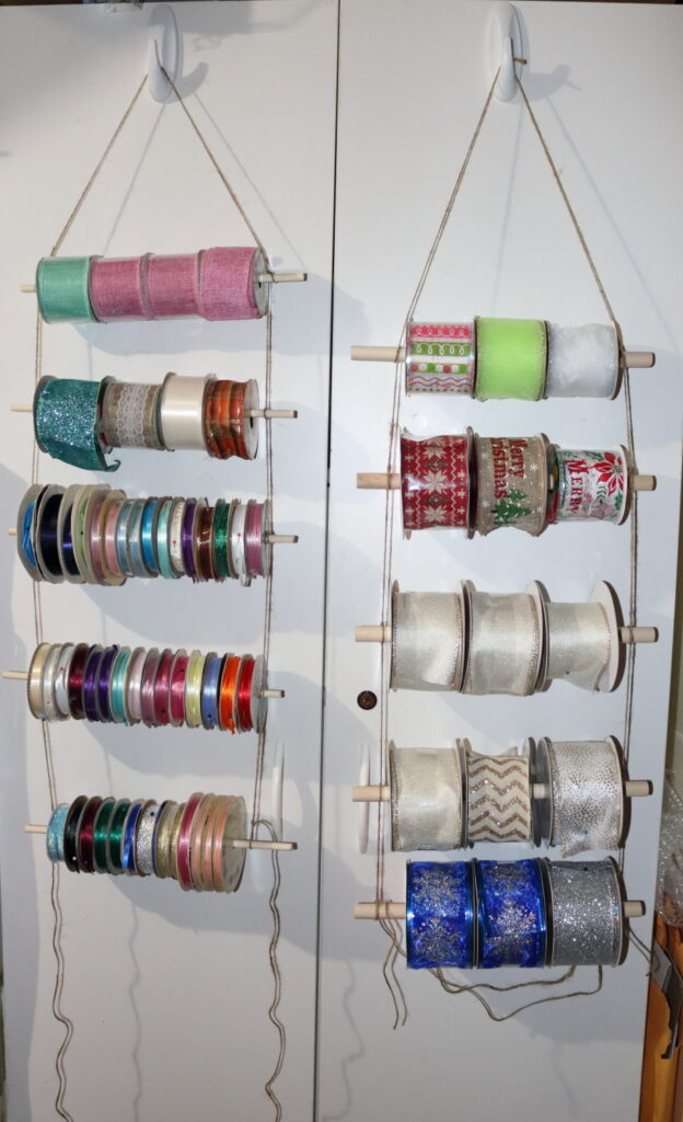 Rope Ladder ribbon organizer