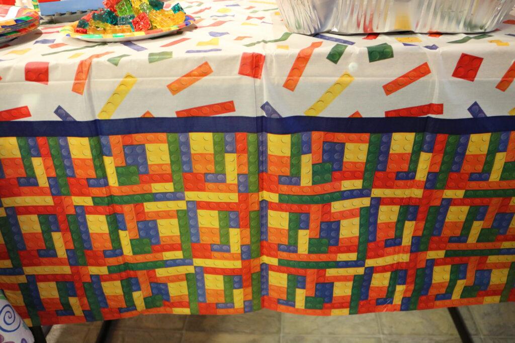 building block LEGO tablecloth