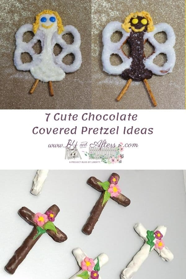 2 pretzel angels and pretzel crosses