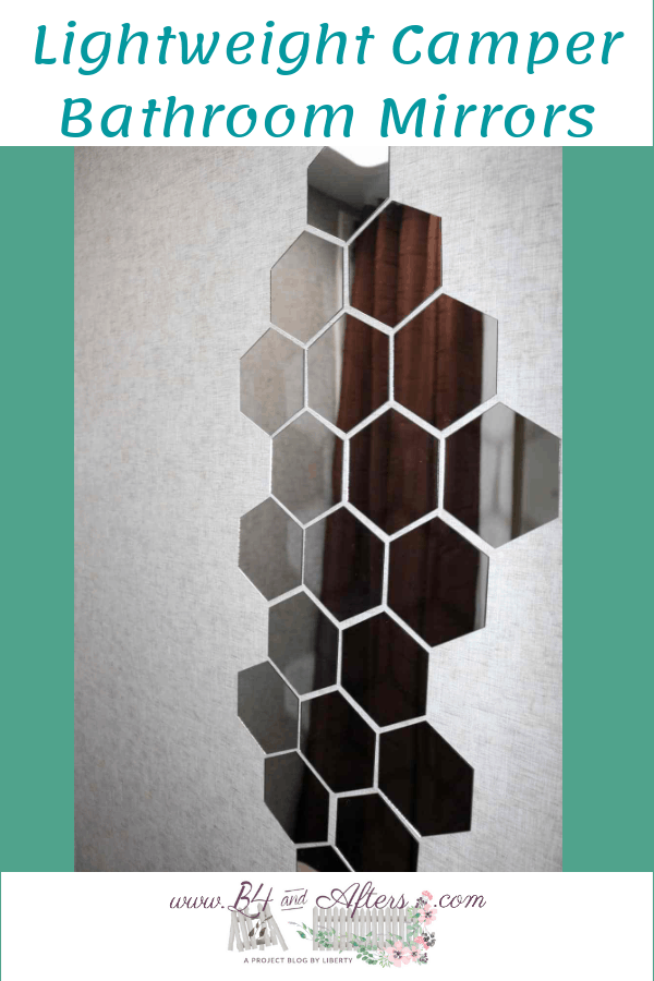 Hexagon mirror stickers