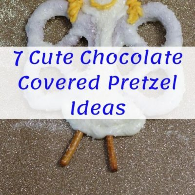 Chocolate Pretzel Angel with Text across it