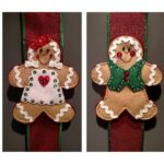 felt gingerbread boy and girl