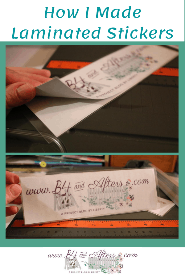 a laminated sticker the size of a bumper sticker