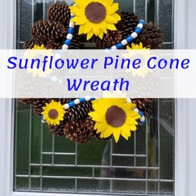 Sunflower wreath pinterest graphic
