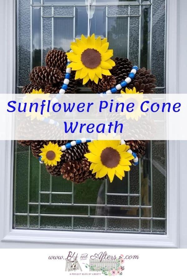 Sunflower wreath pinterest graphic