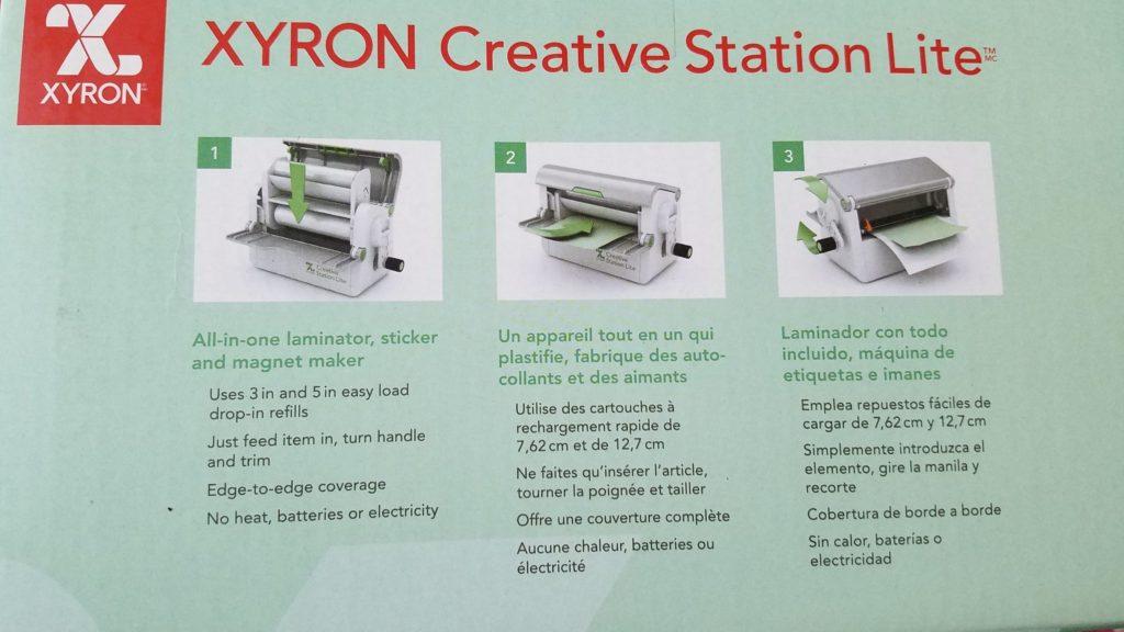 Xyron creative station description on the box