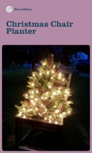 lighted Christmas Tree on a chair