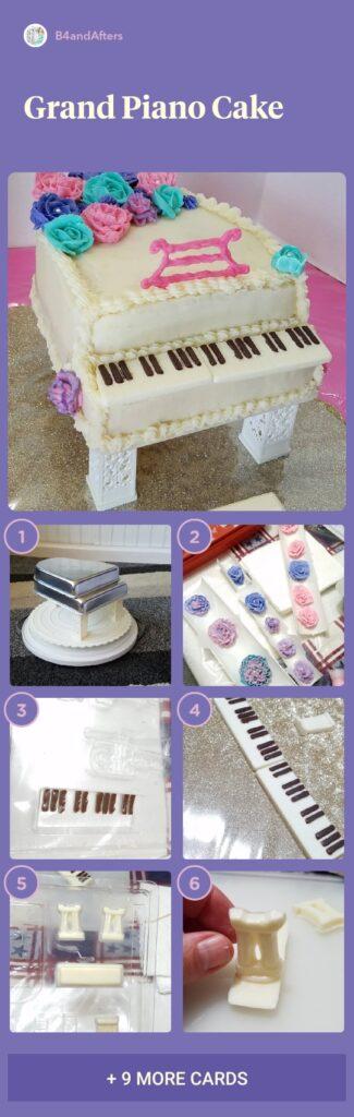 Grand piano cake step by step