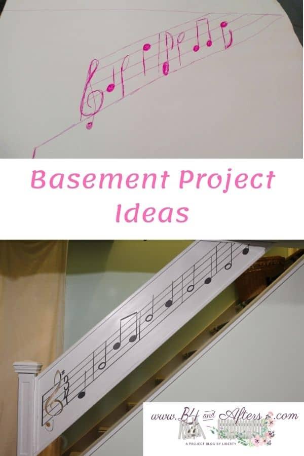 musical basement stair railing