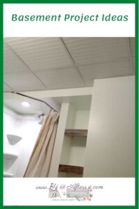 beadboard drop ceiling for a basement